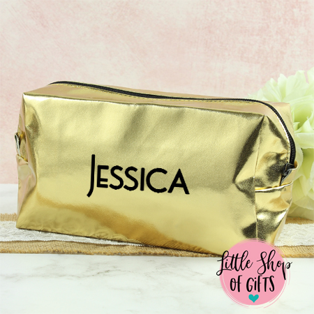 Cosmetic Bags - Gold