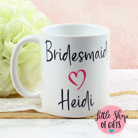 Personalized Bridal party coffee mug