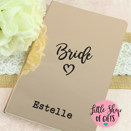 Metallic Rose Gold Notebook - DISCONTINUED