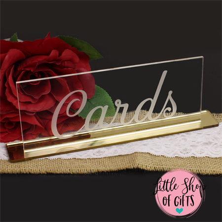 Clear Acrylic table Signs - 1