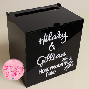Perspex Card box - Large