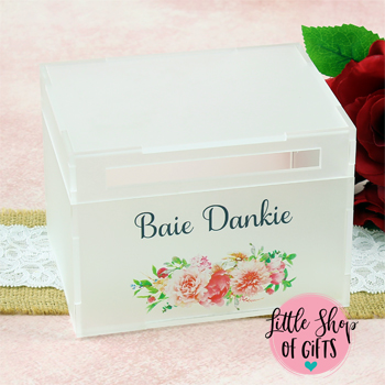 Acrylic Frost Printed Card Box