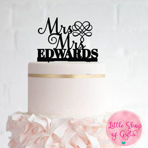 Personalized Laser cut Cake Toppers 1