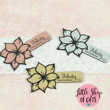 Flower Wedding Name Badge