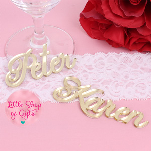 Gold Acrylic Mirror Place Settings