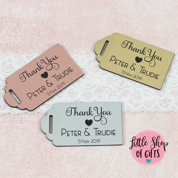 Engraved Thank you tags