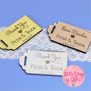 Acrylic Mirror Thank you tags
