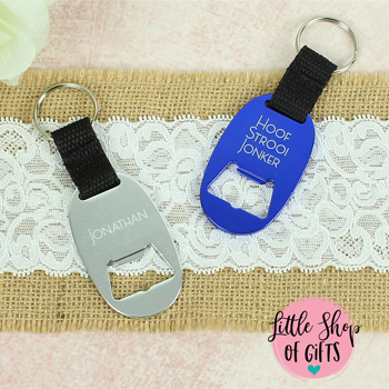 Personalized wood engraved keyring