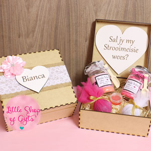 Bridesmaid box - assorted bath products